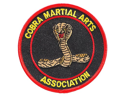 Martial Arts embroidered badge