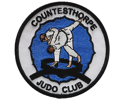 Judo club embroidered badge